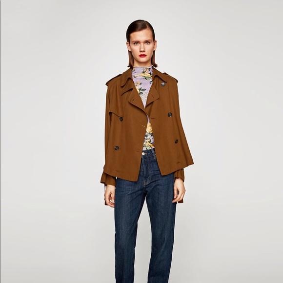 92e23120 Zara Jackets & Coats   Short Flowing Trench Coat Size M   Poshmark